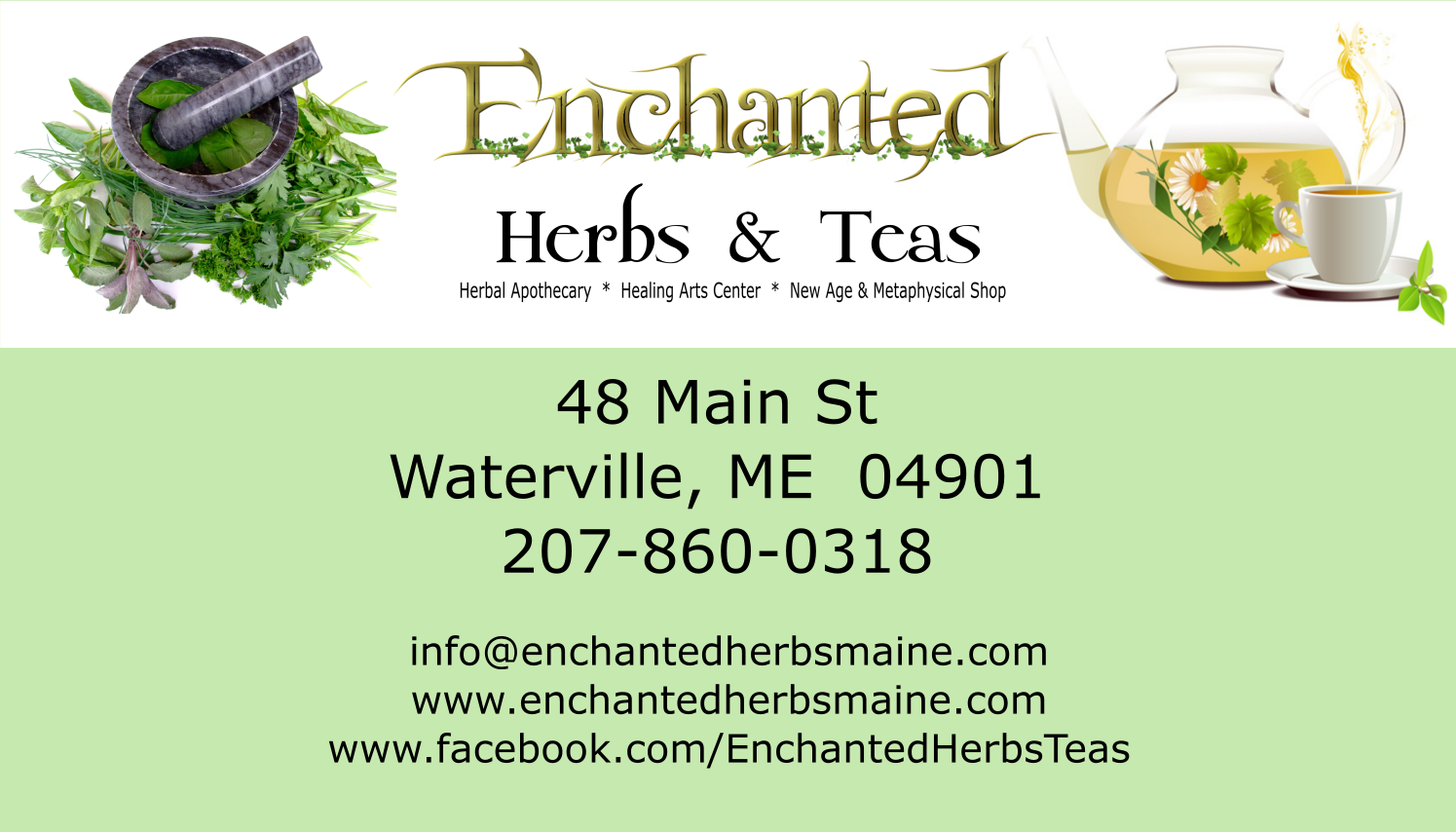 Enchanted Herbs and Teas Waterville, Maine